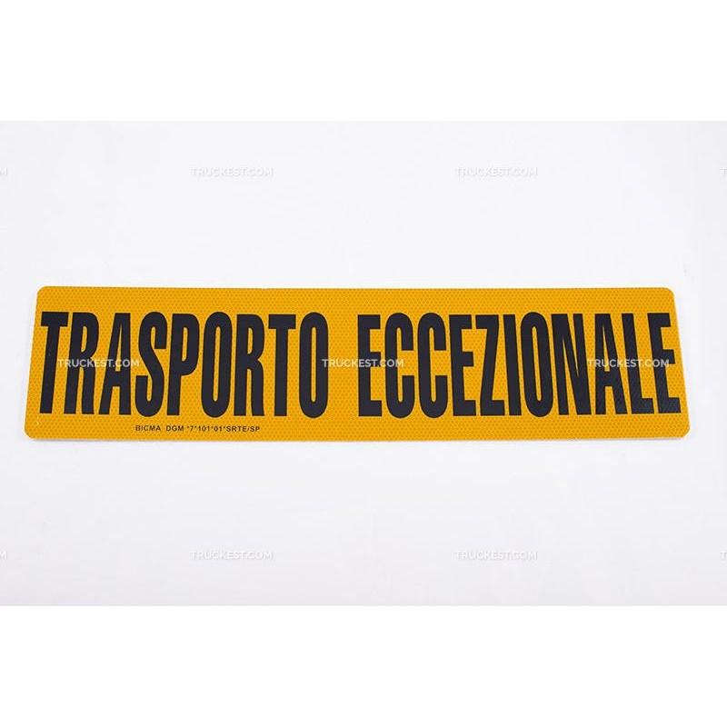 TARGA TRASPORTO ECCEZIONALE | Targhe | Ricambi veicoli industriali | Truckest.com