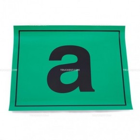 Adesivo verde con lettera A | Adesivi | Ricambi veicoli industriali | Truckest.com