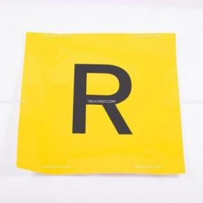Adesivo giallo con lettera R | Adesivi | Ricambi veicoli industriali | Truckest.com