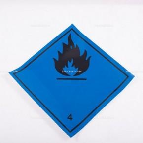 Adesivo ADR classe 4.3 - Sviluppo gas infiammabile a contatto con acqua | Adesivi | Ricambi veicoli industriali | Truckest.com