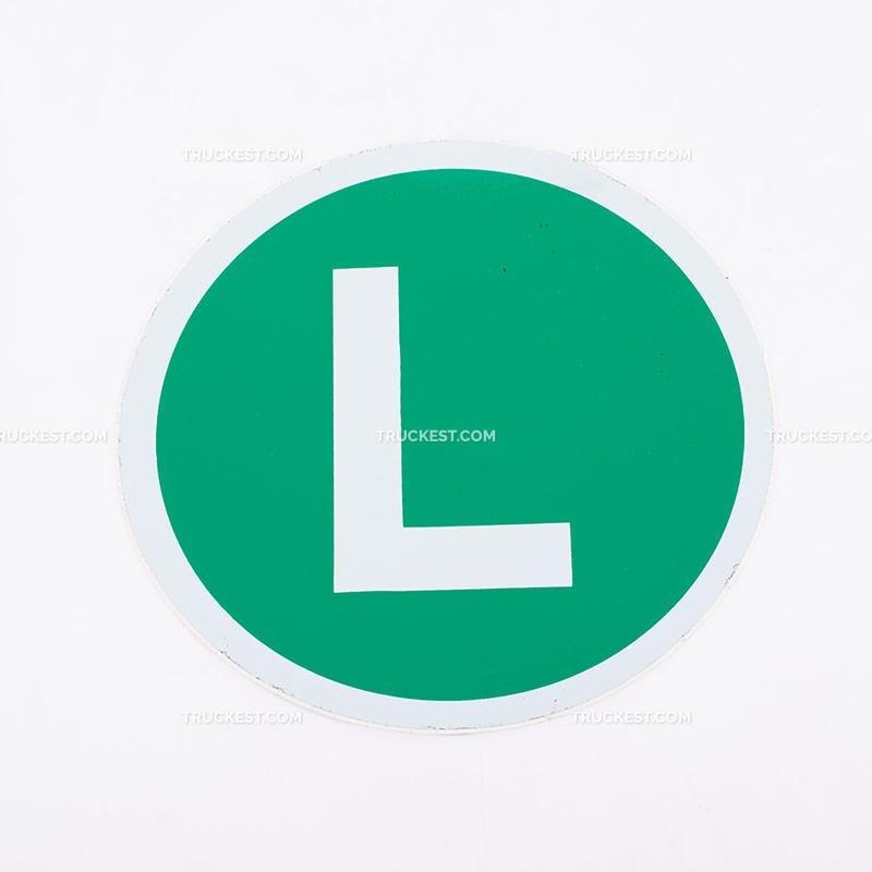 Adesivo verde con lettera L | Adesivi | Ricambi veicoli industriali | Truckest.com