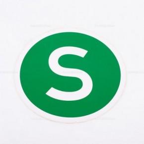 Adesivo verde con lettera S | Adesivi | Ricambi veicoli industriali | Truckest.com
