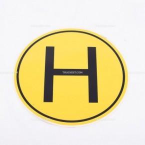 Adesivo giallo con lettera H | Adesivi | Ricambi veicoli industriali | Truckest.com