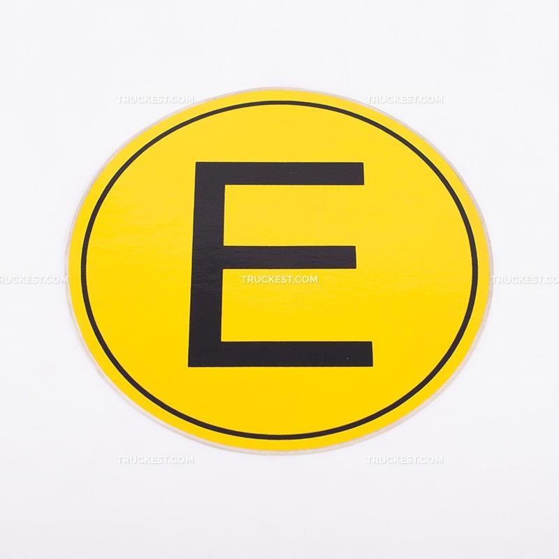 Adesivo giallo con lettera E | Adesivi | Ricambi veicoli industriali | Truckest.com