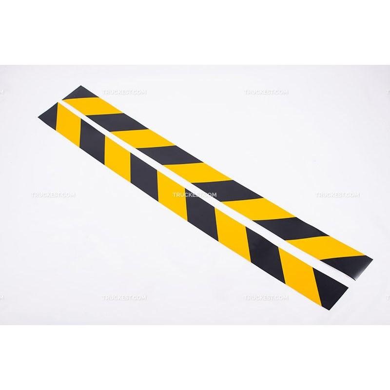 Coppia di adesivi gialli e neri   Adesivi   Ricambi veicoli industriali   Truckest.com