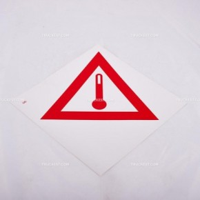 Adesivo con triangolo stampato 26 x 26   Adesivi   Ricambi veicoli industriali   Truckest.com