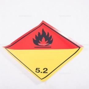 Adesivo ADR Classe 5.2 - Sostanze ossidanti o perossidi organici   Adesivi   Ricambi veicoli industriali   Truckest.com