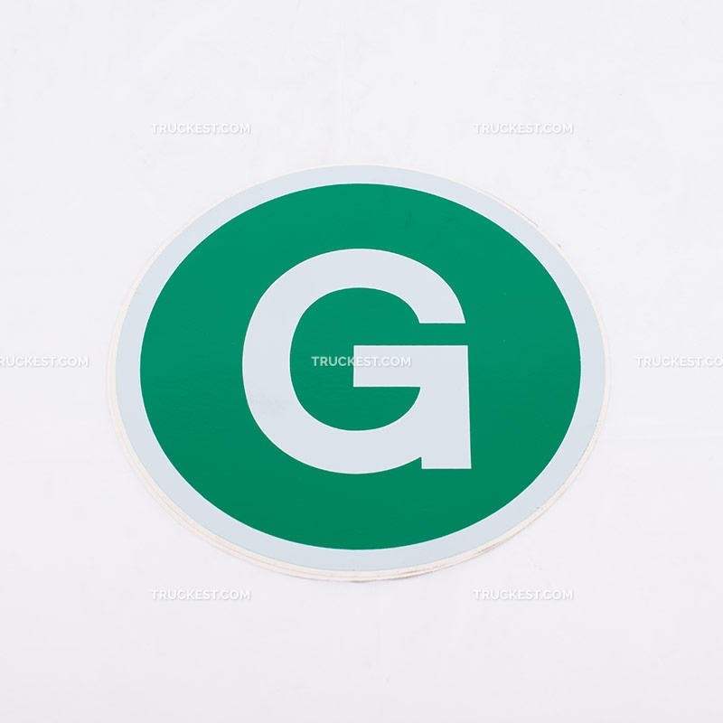 Adesivo verde con lettera G   Adesivi   Ricambi veicoli industriali   Truckest.com