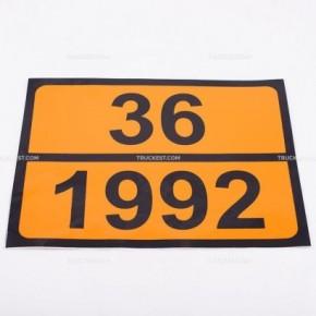 Pellicola adesiva ADR ONU 36/1992   Adesivi   Ricambi veicoli industriali   Truckest.com