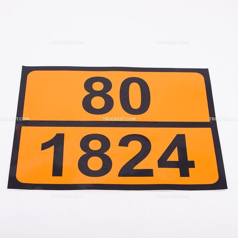 Pellicola adesiva ADR ONU 80/1824   Adesivi   Ricambi veicoli industriali   Truckest.com