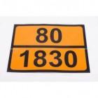 Pellicola adesiva ADR ONU 80/1830 | Adesivi | Ricambi veicoli industriali | Truckest.com