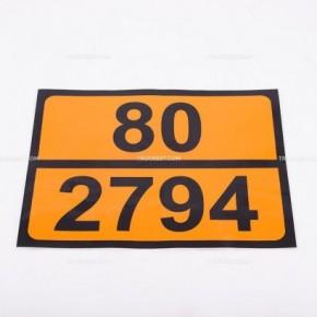 Pellicola adesiva ADR ONU 80/2794 | Adesivi | Ricambi veicoli industriali | Truckest.com