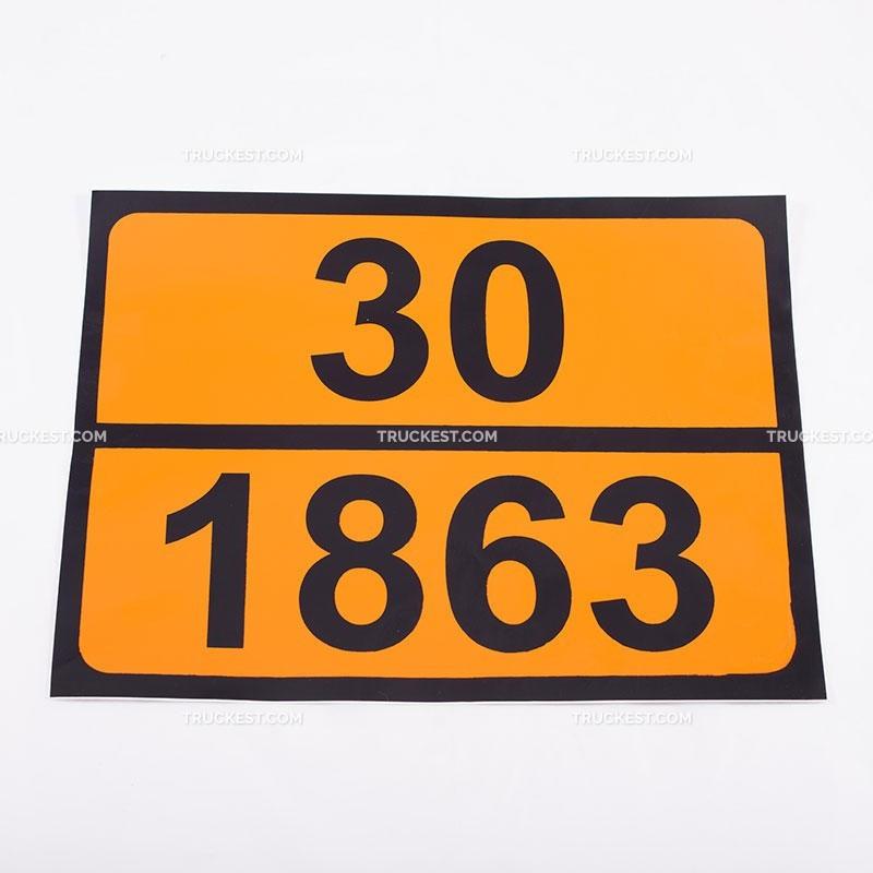 Pellicola adesiva ADR ONU 30/1863 | Adesivi | Ricambi veicoli industriali | Truckest.com