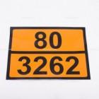 Pellicola adesiva ADR ONU 80/3262 | Adesivi | Ricambi veicoli industriali | Truckest.com