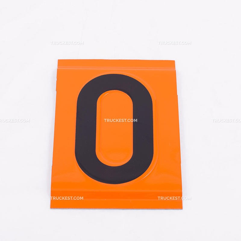 Numeri piegati in acciaio inox per pannelli ADR | Cartelli ADR | Ricambi veicoli industriali | Truckest.com