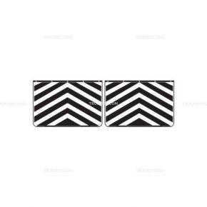 Coppia di paraspruzzi zebrati | Paraspruzzi | Ricambi veicoli industriali | Truckest.com