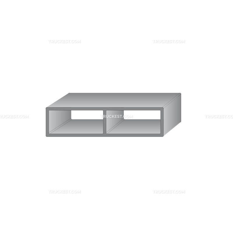 Profilo in alluminio 100X25 | Sovrasponde | Ricambi veicoli industriali | Truckest.com
