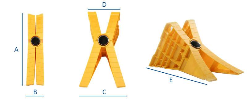 Dimensioni cuneo fermaruota pieghevole XBlock G46